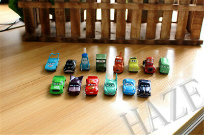 14pcs / set voitures Disney Pixar Lightning Mater Sally Luigi figure cadeau