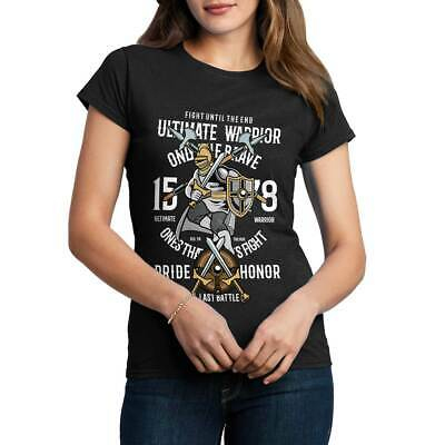 Ultimate Warrior Armor Sword Steel Plate King Medieval Ancie Womens T-Shirt C465