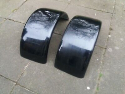 Trike Mudguards Pair Black Fibreglass Project 016