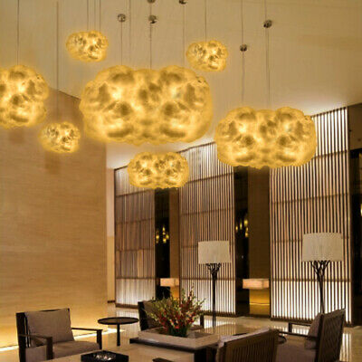 Cotton Cloud Light Hanging Lamp DIY Baby Bedroom Corridor Party Decor Night LED