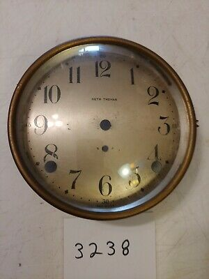 Seth Thomas Cathedral Arch Mantle Clock Dial & Bezel & Glass From 89 Movement
