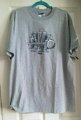 Vintage NWT Official 2001 US Open Tennis Tournament - Twin Towers TShirt Gray L