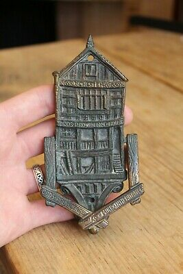 Vintage Chester Gods Providence House 1652 Brass Door Knocker