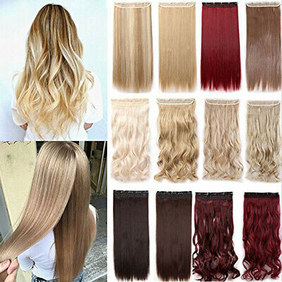 Clip In One Piece 5 Clip As Like Human Hair Extensions Full Head Curly Wavy