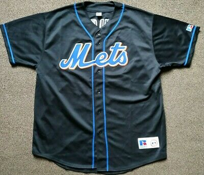 New York Mets Russell Baseball Jersey - Mo Vaughn #42 - Size Xl - Mint Condition