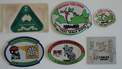 6 Mixed Mining Stickers