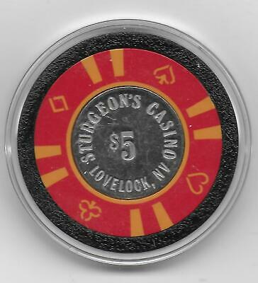 Obsolete $5 CIC Casino Chip From STURGEON'S-Lovelock,, Nv.-CG067393-1980 Issue