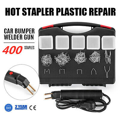 Puller Welder Hot Stapler Car Bumper Fender Fairing Plastic Repair +400 Staples