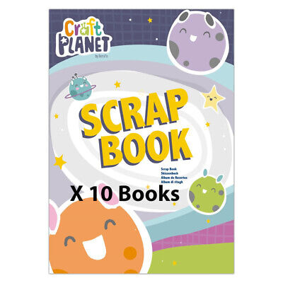 10 Pack of A4 Craft Planet Children's Scrapbook Child Craft Activity Crafting