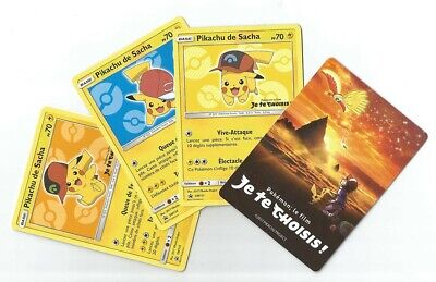 "Booster ""Je Te Choisis"" Pokemon - 3 Cartes Pokemon Pikachu De Sacha A Decouvrir"