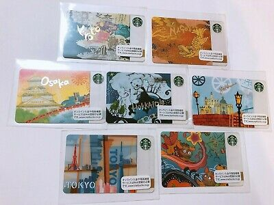 2012 7 Cities Completed Starbucks Japan Card Pin Intact Free Shipping Rare