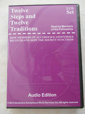 Alcoholics Anonymous - 12 Steps & 12 Traditions - Audio Edition - 5 c.d.'s.