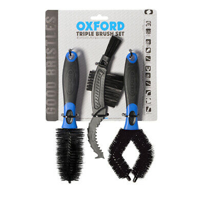 Oxford Cleaning Brush & Scrub Set x 3 - Motorcycle Motorbike Scooter ATV