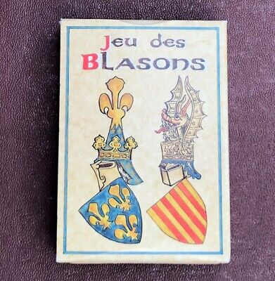 'Jeu des Blasons' Heraldry Card Game, Full Deck, Pack of Cards, Happy Families