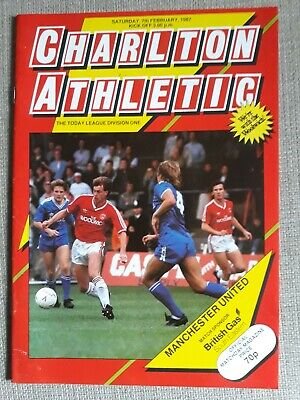 Charlton Athletic v Manchester United. 1987. Excellent.