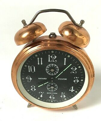 Reveil Marque Bayard Stentor Repetition Made In France Vintage Clock Collection