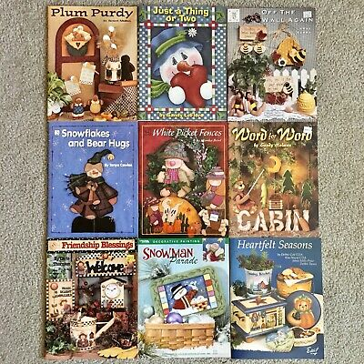 Lot of 30 Tole Painting Books by Various Artists