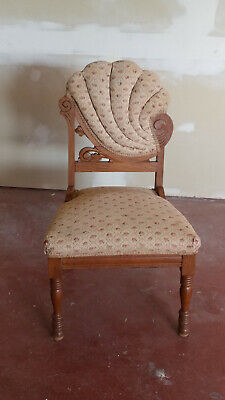 Asymmetrical Chair Solid Hardwood Hand Carved Wood Rare Find