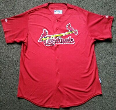 St Louis Cardinals Majestic Vintage Baseball Jersey - Size Xl - Superb Condition