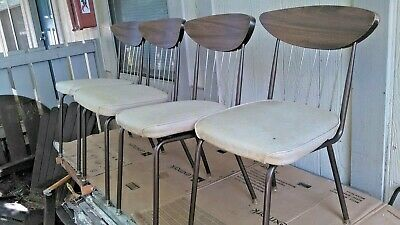 Mid Century Modern Chromcraft Grill Back Formica Four Retro Seat Kitchen Chairs