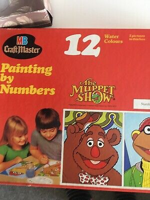 70s Muppet Show Painting By Numbers rarest of finds. brand new vintage.