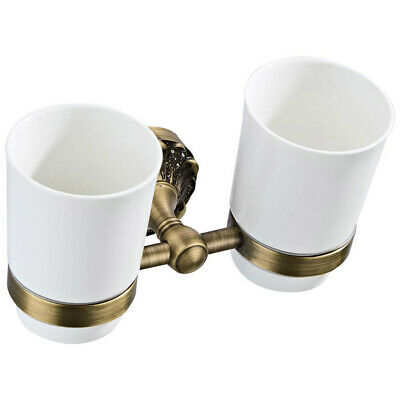 Brass Bathroom Set Wall Mounted Toilet Brush Mouth Cup Soap Dish Brass