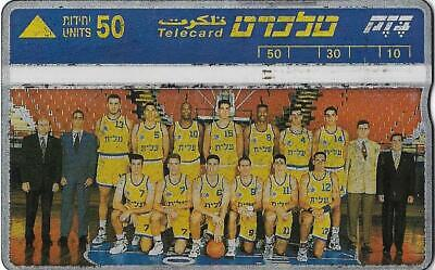 Israel Bezeq Bezek Phone Card Telecard 50 Units 1994-95 Maccabi T-A Basketball