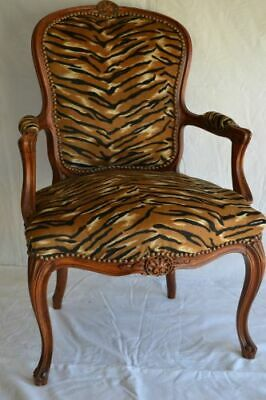 Louis Xv Arm Chair French Style Chair Vintage Furniture Tiger Colour