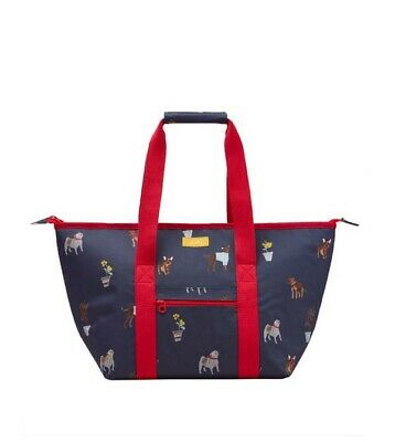 BNWT JOULES Insulated Picnic Carrier Bag - Blue Dog - RRP £29.95