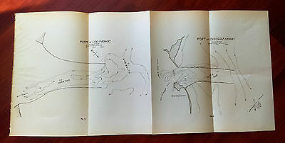 1915 Map of Port of Lido Venice and Chioggia Outer Bar