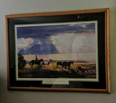 "Tim Cox Framed Matted Signed Print ""Between Heaven And Earth""Large 39""x 29 1/2"""