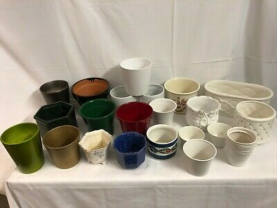 Job Lot Collection Of 22 Planters - Wonderful Designs, Shapes And Sizes!!!!!!