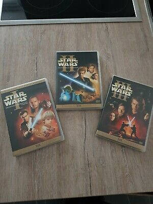 Star Wars Episode 1-3 Die dunkle Bedrohung/Klonkrieger/Sith, 6 DVDs - TOP -