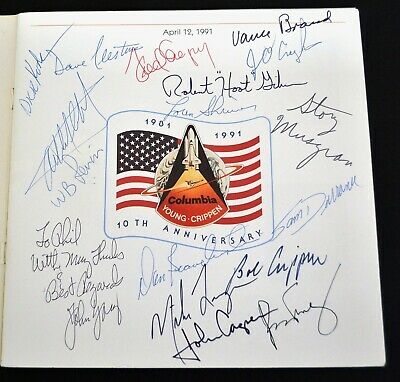 NASA Astronaut Autographs in Program--10th anniversary First Space Shuttle STS-1