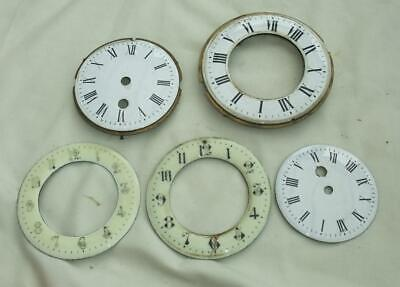 Antique Enamel Clock Dials Faces/Bezels Clockmakers Spare Part