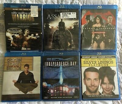 Lot of 6 Various Blu Ray DVDS (Blu-ray) Brand New & Factory Sealed FREE SHIPPING