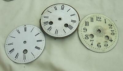 Antique Enamel Clock Dials Faces Clockmakers Spare Part