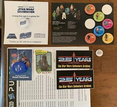 Star Wars Celebration Chicago 2019 SWCC Swag German Prototype Pins Pencil Button