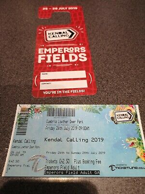 Kendal Calling 2019. Adult Emperors Field Ticket and Parking