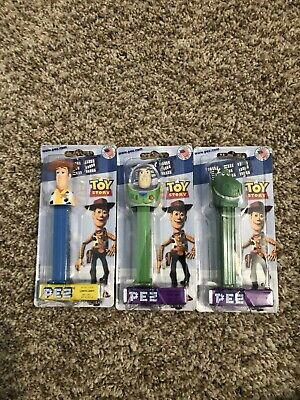 Disney Pixar Toy Story PEZ Candy Dispenser Rex Woody Buzz Nip