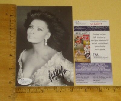 "REAL JSA Authentic Sophia Loren Signed/Auto 4""X 6 1/25"" B&W Photo James Spencer"