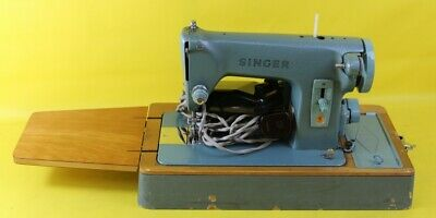 Vintage Blue SINGER Sewing Machine ##WEFJ2RG