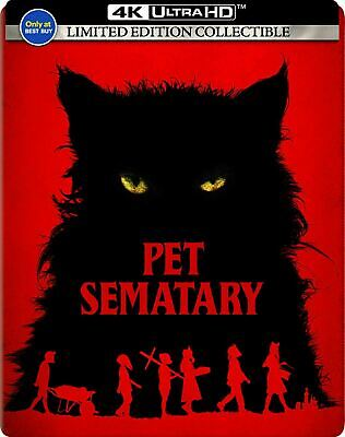 Pet Sematary - Limited Ed. Steelbook [4K Ultra HD + Blu-ray] New And Sealed!!