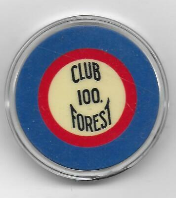 100 Illegal CLUB FOREST Crest & Seal Casino Chip-New Orleans, La.-CG097477-C-40s