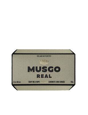 Claus Porto Musgo Real Mens Body Shower Wash Soap On A Rope Oak Moss Scent 190g