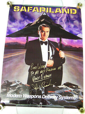 SAFARILAND Modern Weapons Delivery System ADVERTISEMENT POSTER - Celeb Signed