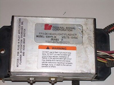 FEDERAL SIGNAL FP1-06 Headlight Flasher Model 656101-06 ... on