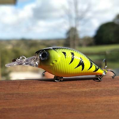 50mm Fishing Lure Bream Trout Cod Flathead Whiting Bass Tackle Yellow Crankbait