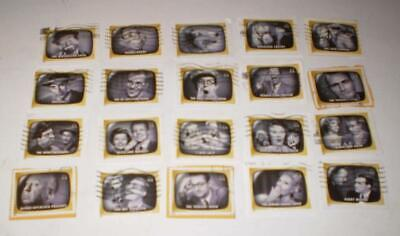 COMPLETE SET  44c EARLY TV MEMORIES STAMPS USED ON PAPER