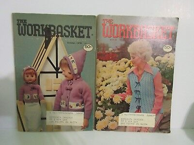 Vintage The Workbasket Home Arts Magazine 1976 Sept and Oct